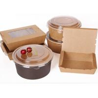 Buy cheap Biodegradable Packaging Disposable Soup Kraft Paper Bowl Saland Cup from wholesalers