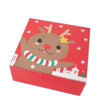 China Custom printed Christmas Cardboard Boxes Recycled Paper Folding Gift Box on sale