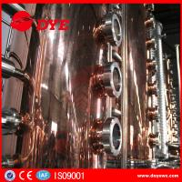 China 500L Manual Wine Alcohol Distiller Tower With Stainless Condenser wholesale