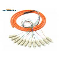 Buy cheap Orange FC PC SC LC Connector Fiber Optic Pigtail 1.5m Length Insertion Loss ≤0 from wholesalers