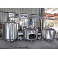 China 5Hl Semi-Automatic Mini Industrial Beer Brewing Equipment Flat Bottom wholesale