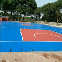 China Synthetic Exterior Basketball Court Surfaces , Colored Modular Basketball Flooring wholesale