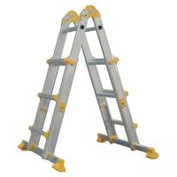 China Outdoor Aluminum Telescopic Ladder 4x3 Corrosion Resistant Long Life Span wholesale