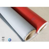 Buy cheap 260℃ Heat Insulation 3732 0.45mm Red Color Silicone Coated Fiberglass Fabric from wholesalers
