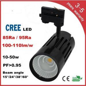 China 50W Cree/Luminus COB LED Chip Track Light 90RA 0.95PFC 100LM/W 3 years warranty wholesale