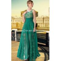 LF1030650 Green Color See Through Silk Chiffon Prom Dresses