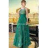 China LF1030650 Green Color See Through Silk Chiffon Prom Dresses wholesale