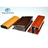 China Different Color Household Wood Grain Aluminum Profiles Long Using Life wholesale
