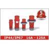 China Single Phase Inverter Industrial Power Plug Sockets 380V 415V 3P+E 3P+N+E wholesale