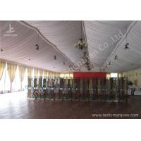China Transparent Glass Wall Aluminum Profile Wedding Event Tent , White Roof Lining Decoration wholesale