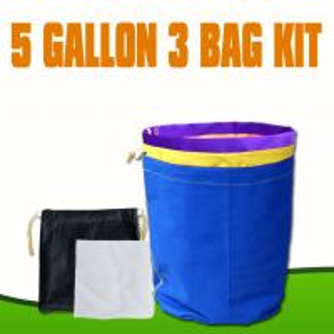 China 5 Gallon 3 bags kits bubble mesh filter bags  wholesale