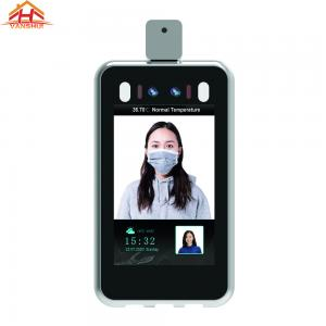 China 8 inch Color Screen Face Recognition Biometric Fingerprint  Access Control System with Temperature Detector wholesale