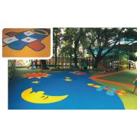 China EPDM Rubber Sports Flooring Colored For Safety Playground / Leisure Area / Park wholesale
