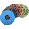 "China 5"" 5.0mm Wet Polishing Pads Set of 7 PCS for Granite / Concrete / Stone Floor wholesale"