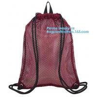 China drawstring backpack kids mesh backpack manufacturer mesh net gift backpack,polyester drawstring outdoor cycling backpack on sale