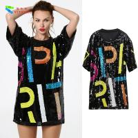 Buy cheap Oversize Womens Glitter Clothes / Women Sequin Party Dresses Hip Pop Style from wholesalers