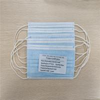 China Comfortable Disposable Earloop 3 Ply Non Woven Face Mask Soft Lining wholesale