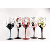 China Hand painted women wine glasses, Ladies Night Out on sale