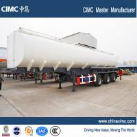 Single Axle Fuel Tanker : Litres capacity liquid oil tank semi trailer with