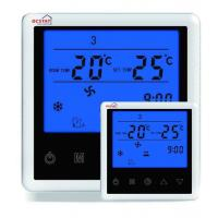 China White / Blue Backlight Digital Fan Coil Thermostat Air Conditioning System on sale