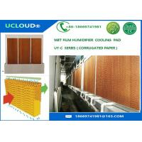 China Brown color Greenhouse/poultry house/ industrial workshop evaporative cooling pad on sale