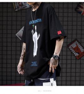 China Short Sleeved 75% Cotton Tee Shirt XXXXL-XXS Lazy Wind Abstract Pattern wholesale