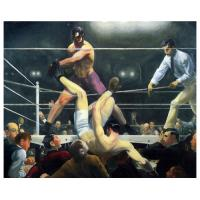 China 100% pure hand-painted canvas Dempsey and Firpo (also known as Brodie's Revenge) painting on sale