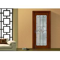 China fireproof Bevel Clear Sliding French Patio Doors , Safety French Glass Sliding Patio Doors wholesale