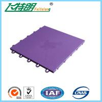 China Basketball / Volleyball / Tennis Court Interlocking Rubber Floor Tiles 304.8×304.8×12.2 mm wholesale