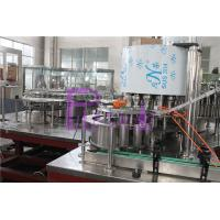 China Polygon Pure Water Filling Machine With Streamline Dial Wheel And Low Gravity wholesale