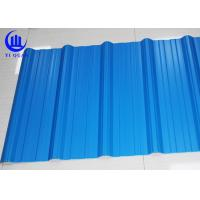China Excellent Corrosion Resistanc PVC Blue Corrugated Plastic Roofing Sheets 1130mm wholesale