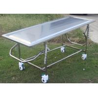 Buy cheap Adjustable Mortuary Equipment Embalming Operating Autopsy Table of Stainless from wholesalers