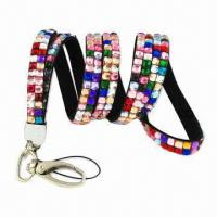 China Rhinestone Card Holder, Customized Lanyards are Welcome wholesale