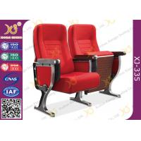 China Aluminum Leg Stackable Auditorium Chairs With ABS Tablet / Tip Up Seat wholesale