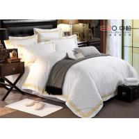 Hotel Bed Linen White Color And 60S With 100% Cotton Or Poly/Cotton