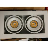 Buy cheap Trim Double Head 2*7W 3000K Outdoor Led Downlights Square COB 180mA High Performance Down Light/R3B0094 from wholesalers
