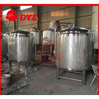 China DYE Chemical Stainless Steel Hot Water Storage Tanks For Breweries wholesale