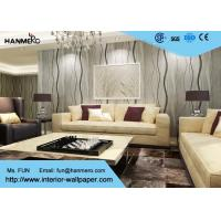 China Curve Line Design Gray Modern Removable Wallpaper  for TV Background 0.53*10M wholesale