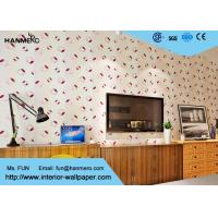 Quality Pink And Beige Removable PVC Wallpaper , Modern Wallpaper For Bedrooms for sale