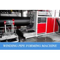 China Hdpe Hollow Wall Winding Plastic Pipe Production Line For Big Diameter Water Supply wholesale