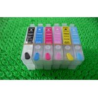 China Black Plotter T080 T0801 T0802 Refillable Printer Ink Cartridges for Desktop Epson R265 on sale