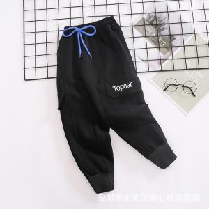 China 110CM-170CM Drawstring Girls Solid Color Pants 260G wholesale
