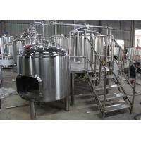 China Professional Small Industrial Beer Brewing Machine Manual With Lauter Tun wholesale