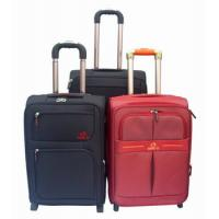 China 2012 fashion durable leather trolley travel bag and luggage wholesale