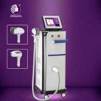 China Fiber Coupled Facial Diode Laser Hair Removal Machine Humaized Bend Design 13 * 13mm2 Size Spot wholesale