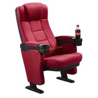 China Comfortable High Density Foam Cinema Theatre Seats With Cup Holder wholesale