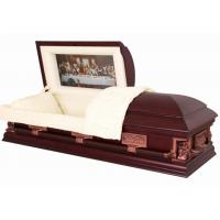 Buy cheap Last Supper Wood Caskets SWC06 In Poplar Material Cremation Caskets from wholesalers