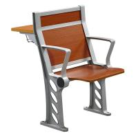 China Cherry Wood Armed College Classroom Furniture / Student Chair With Fixed Table Desk wholesale