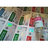 Buy cheap Pharmaceutical Steroid 10ml Hologram Vial Labels For Apex Steroids from wholesalers