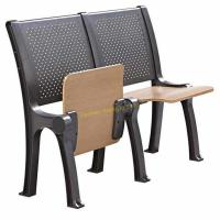 China Steel Coated Stadium School Furniture Roll Up Chair Fixed Desk / Auditorium Seating wholesale